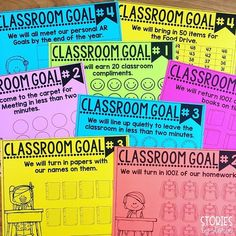 Setting Classroom Goals, Part 2 Setting Classroom Goals, Part to do As you start another school year, I'm sure you have a million and one things planned to do with your students. Classroom Rewards, Classroom Behavior Management, First Grade Classroom, School Classroom, Classroom Activities, Classroom Organization, Classroom Ideas, Behavior Goals, Classroom Routines