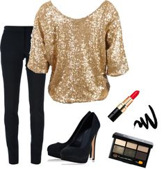 """""""Black & Gold Party Clothes"""" by tora-gabriel ❤ liked on Polyvore"""