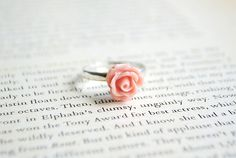 New to Onetenzeroseven on Etsy: Pink Rose Flower Ring | Adjustable | Nickel Free (5.50 GBP)
