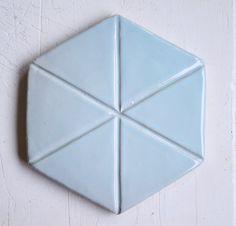 Retro colour from the Hexagon Tiles, Retro Color, Wall Tiles, Coasters, Handmade, Colour, Blue, Room Tiles, Color