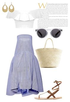 """""""Cruising to Catalina !"""" by invisible9988 ❤ liked on Polyvore featuring Ancient Greek Sandals, Sensi Studio, Miss Selfridge, Illesteva, Irene Neuwirth, polyvoreeditorial, PolyvoreWishlist, yoinscollection and justlivedesign"""