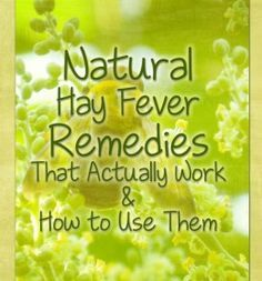 Natural remedies for hay fever and allergies that actually work, how to use them effectively and possible side effects to be aware of. Home Remedies For Allergies, Allergy Remedies, Health And Beauty, Health And Wellness, Health Tips, Health Care, Alternative Health, Alternative Medicine, Asthma