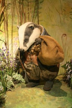 Mr Tod, the badger, Beatrix Potter Museum