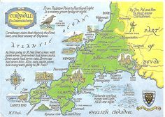 Cornwall in South-West England offers a host of wonderful tourist destinations including; St Michael's Mount, The Eden Project and The Lost Gardens of Heligan. Cornwall Garden, Cornwall Map, West Cornwall, Devon And Cornwall, England Tourist Attractions, Holidays In Cornwall, Eden Project, Picture Postcards, Places Of Interest