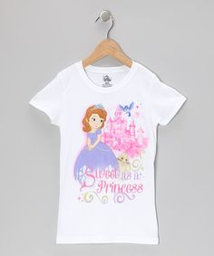 Take a look at this White Sofia 'Sweet as a Princess' Tee - Girls by Sofia the First on #zulily today!