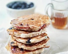 Apple And Blueberry Buckwheat Pancakes With Maple Syrup Recipe         |          I love my food