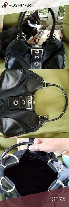 Authentic Prada handbag Beautiful authentic vinyl/ leather Prada handbag in great condition, super cute! Bags