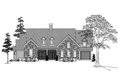 Farm Style House Plans - 3960 Square Foot Home , 2 Story, 4 Bedroom and 3 Bath, 3 Garage Stalls by Monster House Plans - Plan 62-269