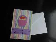 """""""Have a nice cupcake day, lovely and sweettie!"""" A very energetic card!"""