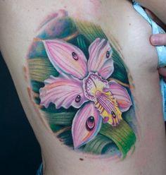 Sean McCready's  Orchid Tattoo from Tattoolicious Hawaii