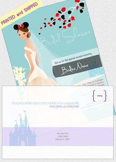 Set of 20 Disney Themed Bridal Shower Invites & by DisneyGroom    http://www.etsy.com/shop/DisneyGroom