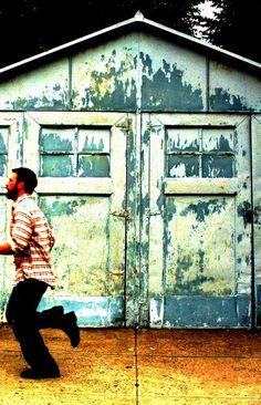 Barn doors distressed