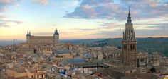 Toledo Skyline. The Cathedral and the Alcazar. Spain