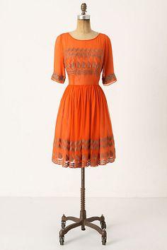 dream dress. :) (via http://www.anthropologie.com ) #orange #dress