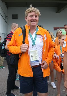 King Willem-Alexander of the Netherlands leaves the arena after celebrating the gold medal of Sanne Wevers of the Netherlands at the Women's Balance Beam Final on day 10 of the Rio 2016 Olympic Games on August 15, 2016 in Rio de Janeiro, Brazil.