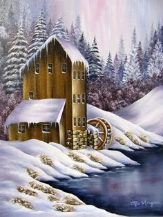 Original Oil Painting Winter Scene  The by paintingfromtheheart,