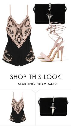 """Untitled #3242"" by evalentina92 ❤ liked on Polyvore featuring Roberto Cavalli and Cesare Paciotti"
