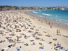 Summer Holiday Crowds on Bondi Beach Photographic Print by Oliver Strewe at Art.com