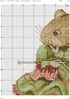 Vera The Mouse ~ Knitting