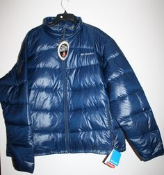 Columbia Gold 650 Turbodown Omni Heat Down Jacket Coat Navy Blue 3X $170 #Columbia #Puffer