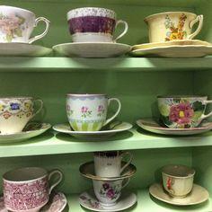 Vintage tea cup finds @ www.heyjudesbarn.co.za must see from R130 Vintage Tea, High Tea, Tea Cups, China, Mugs, Tableware, Pretty, Colors, Tea