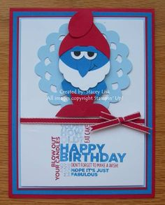 Smurf Punch Art by staceylisk - Cards and Paper Crafts at Splitcoaststampers