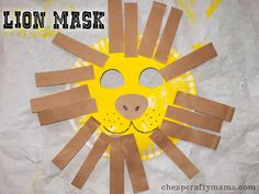 Lion Mask {toddler craft}.... going to try this one out today!
