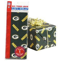 Green Bay Packers Flat Gift Wrap