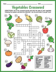 Printable Crossword Puzzles for Kids Learning English For Kids, English Lessons For Kids, English Worksheets For Kids, Kids English, Learn English, English Activities For Kids, English Class, Kids Crossword Puzzles, Word Puzzles For Kids