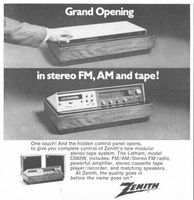 Zenith Stereo Tape System Latham C682W 1971 Ad Picture