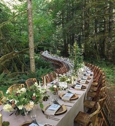 20 Woodland & Forest Wedding Reception Ideas is part of Forest wedding reception - tps header] Woodland weddings are amazing I really smell the forest aromas and hear the birds when I think of such a ceremony! Wedding Reception Ideas, Wedding Table, Rustic Wedding, Dessert Wedding, Small Wedding Receptions, Redwood Wedding, Reception Party, Wedding Dinner, Outdoor Wedding Venues