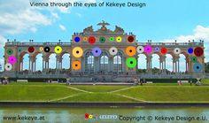 Schönbrunn Wien, Vienna in Dots Design / Photo © Kekeye Design e. Dots Design, Vienna, Taj Mahal, Eyes, Building, Travel, Voyage, Buildings, Viajes