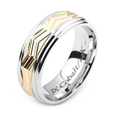 Men's Cobalt Ring Wide Two-Tone Cobalt & Yellow Gold (Solid, not Plated) Wedding Band Fashion Ring Custom Jewelry Manufacturers for all types of jewelry! Engagement Ring For Him, Kobalt, Heart Shaped Diamond, Titanium Rings, Platinum Ring, Diamond Wedding Bands, White Gold Rings, Custom Jewelry, Handmade Jewelry