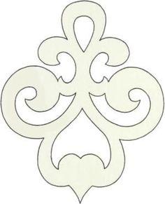 Scroll saw pattern ornament Stencil Patterns, Stencil Designs, Embroidery Patterns, Cross Patterns, Wood Patterns, Stencils, Motif Art Deco, Scroll Saw Patterns Free, Free Pattern