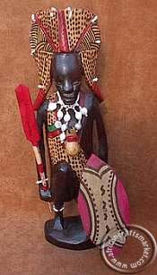 African Maasai warrior