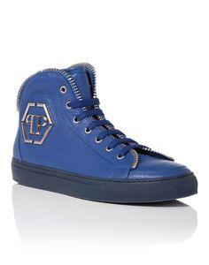 "PHILIPP PLEIN Mid-Top Sneakers ""Anniston"". #philippplein #shoes #"