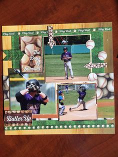 A baseball page created using the Reminisce Baseball Collection.