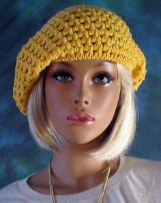 Patrón #920: Boina Amarilla a Crochet | CTejidas [Crochet y Dos Agujas]