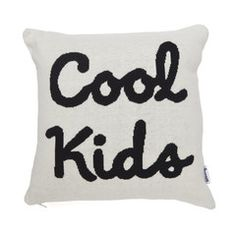 Cushion . Knitted / Reversible - Cool Kids / Black & White