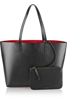 Black and red leather (Cow) Open top
