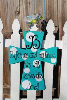 Wooden Cross Door Hanger by doortwodoor on Etsy, $40.00
