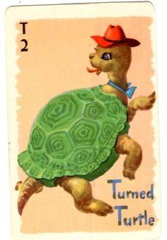 Turned Turtle Rummy Card