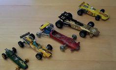 Dinky Ferrari 312 B2 / DINKY Lotus F1 / CORGI Cooper Masserati F1 / LESNEY Lotus - http://www.matchbox-lesney.com/?p=5010