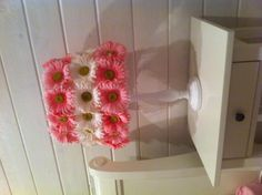 DIY Lampshade using flowers from craft store