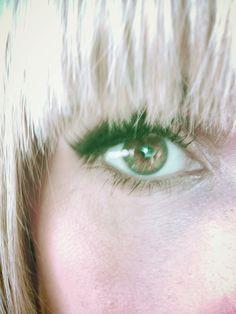 Hair & eye makeup....