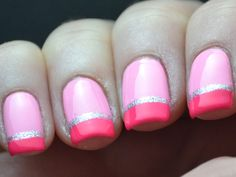 Hot pink #nails for summer. Can't wait for it to warm up! http://www.ivillage.com/wedding-nails-bridal-nails-nail-art-designs/5-a-529600#