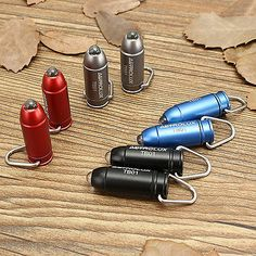 Mini LED Bullet Keychain Flashlight  Aluminium Alloy 45LM Batteries Included NEW
