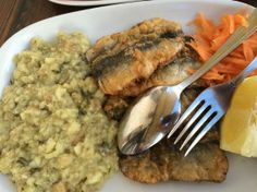 Sardinhas albardadas (Battered sardines)  A delicious alternative to the typical grilled sardines. Sardines coated with a batter of egg and flour, and fried with olive oil.  Photo source: bit.ly/1mx4Uwy