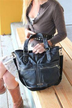 #large #francosarto #designer shoulder bag #fashion from My Darling Vintage