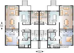 House plan W3710 detail from DrummondHousePlans.com | b | Pinterest ...